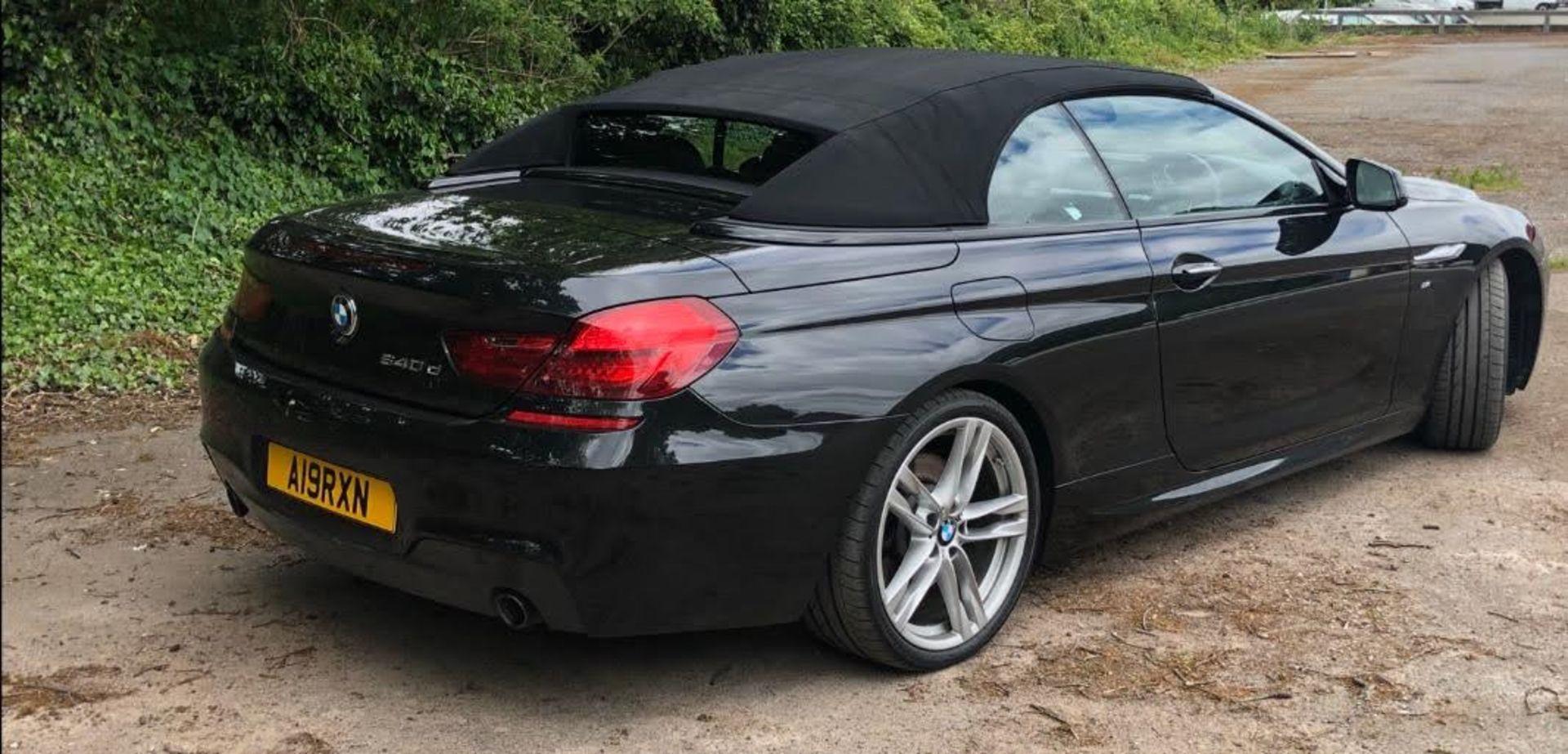 2014/14 REG BMW 640D M SPORT AUTOMATIC 3.0 DIESEL BLACK CONVERTIBLE *NO VAT* - Image 7 of 17