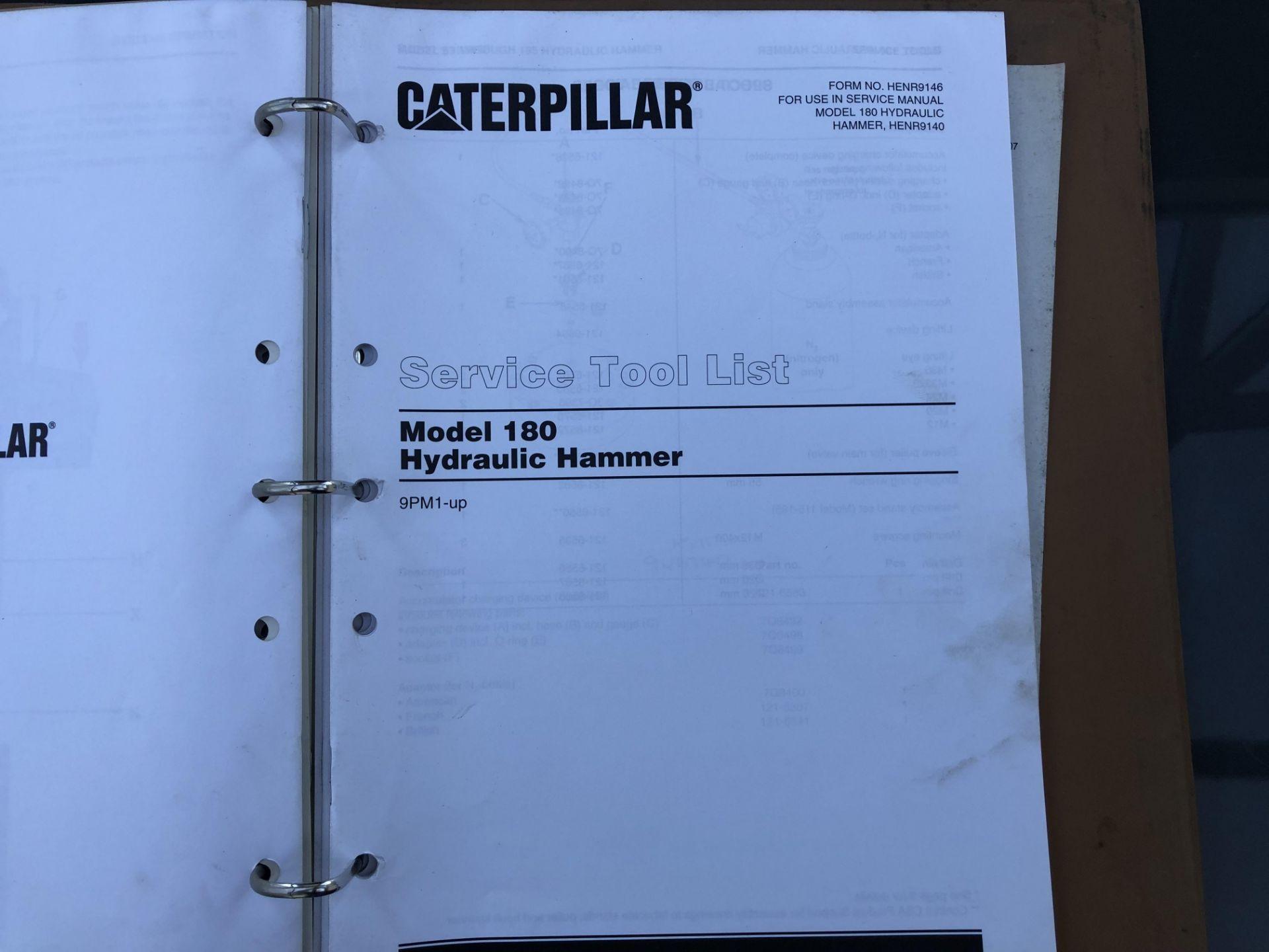CATERPILLAR MODEL 180 HAMMER SERVICE MANUAL, GENUINE FACTORY CAT WORKSHOP MANUAL - Image 6 of 8