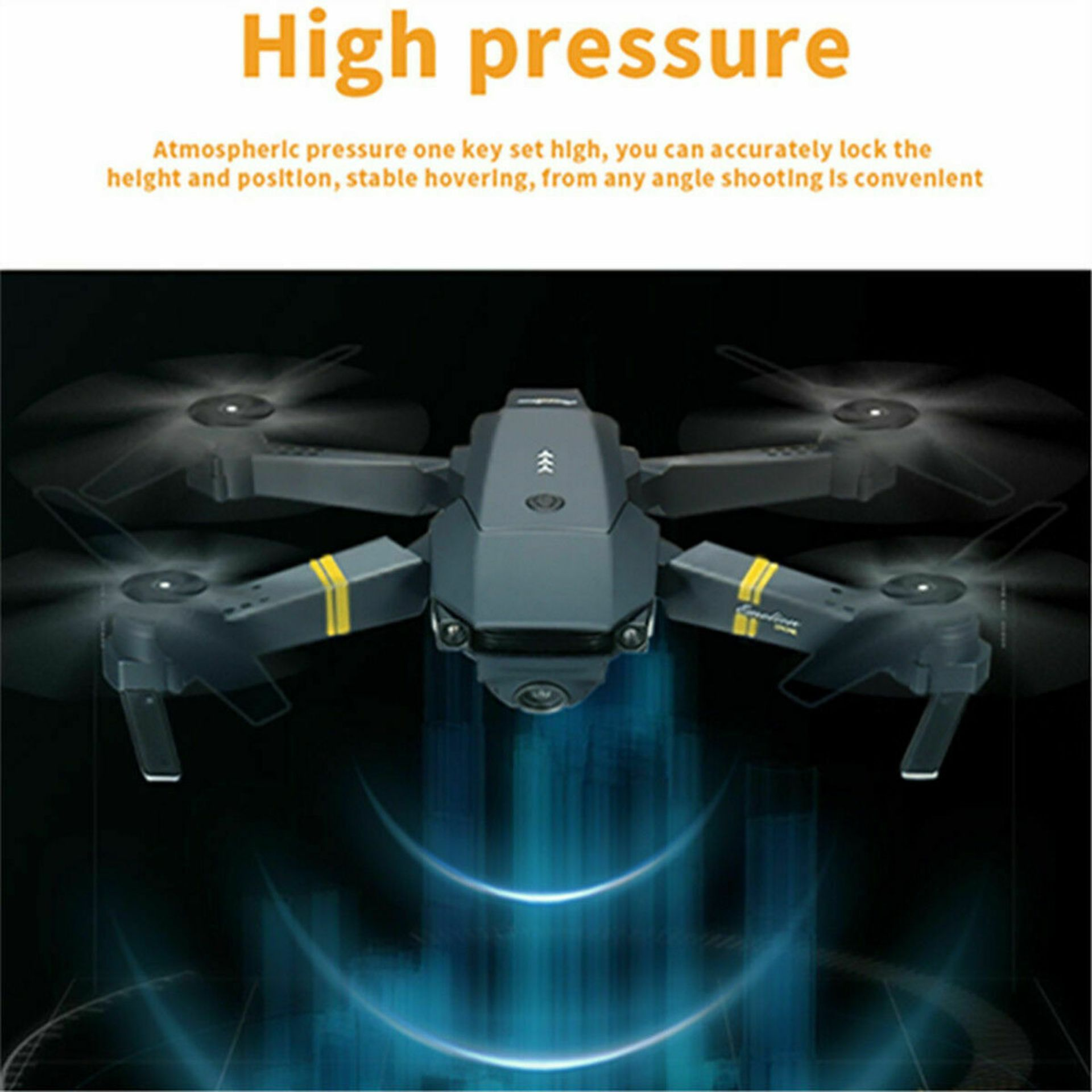 NEW & UNUSED DRONE X PRO WIFI FPV 1080P HD CAMERA FOLDABLE RC QUADCOPTER + BAG *PLUS VAT* - Image 3 of 12