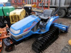 DS -ISEKI TPC 15 PICCORO TRACKED VEHICLE WITH ARP 14 REAR ATTACHMENT, BRAND NEW TRACKS.  AS