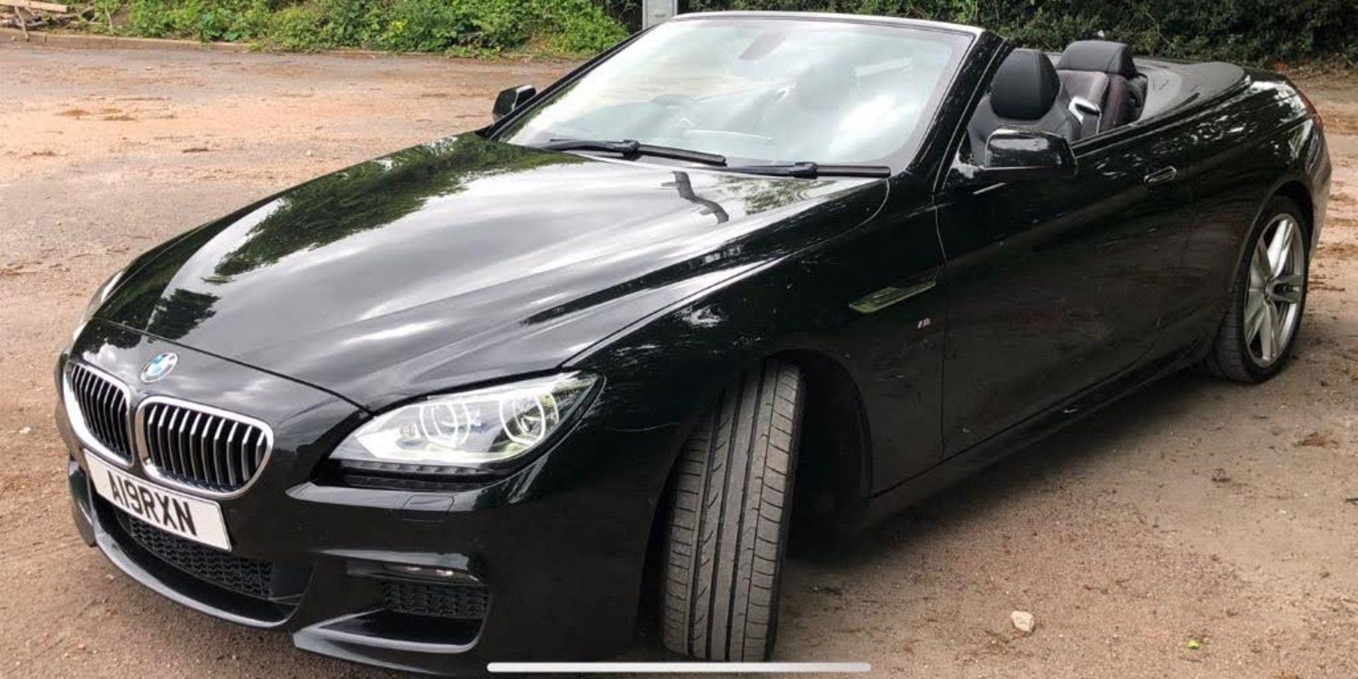 2014/14 REG BMW 640D M SPORT AUTOMATIC 3.0 DIESEL BLACK CONVERTIBLE *NO VAT* - Image 3 of 17