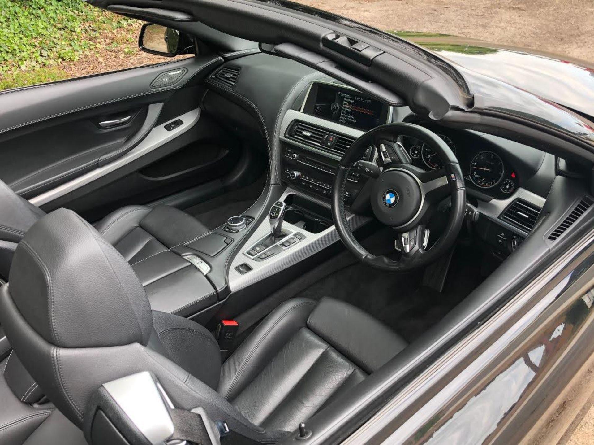 2014/14 REG BMW 640D M SPORT AUTOMATIC 3.0 DIESEL BLACK CONVERTIBLE *NO VAT* - Image 11 of 17