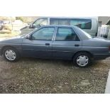 1992 FORD ORION LX AUTO, GREY, PETROL, AUTO VARIABLE 1 GEARS, 4 PREVIOUS KEEPERS, NO VAT