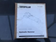CATERPILLAR MODEL 180 HAMMER SERVICE MANUAL, GENUINE FACTORY CAT WORKSHOP MANUAL