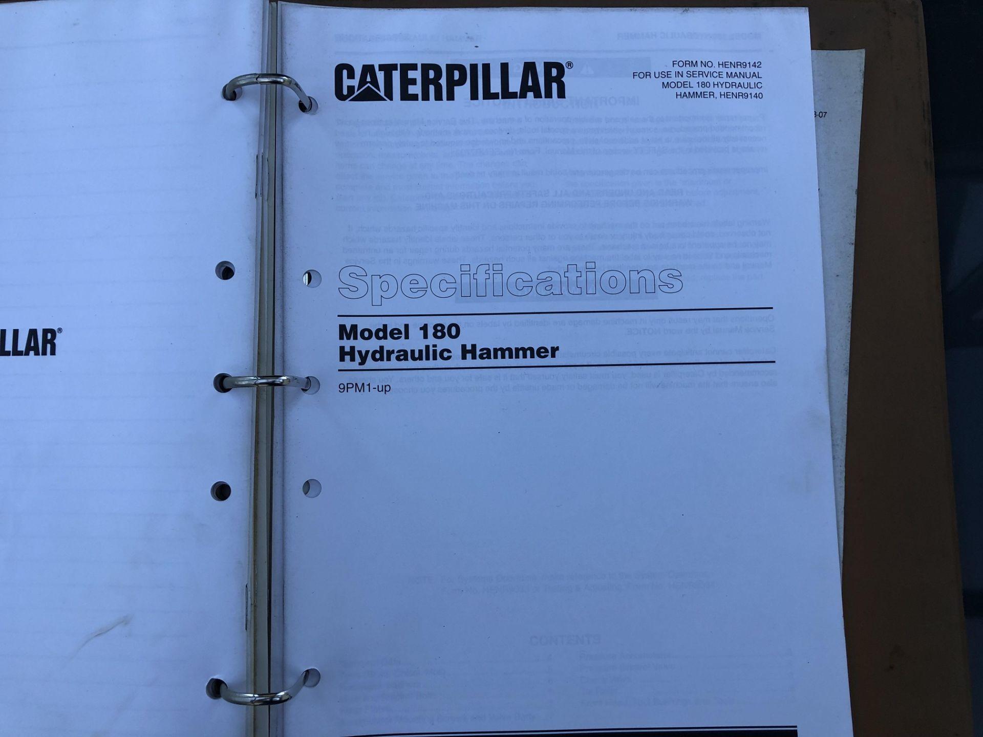 CATERPILLAR MODEL 180 HAMMER SERVICE MANUAL, GENUINE FACTORY CAT WORKSHOP MANUAL - Image 8 of 8