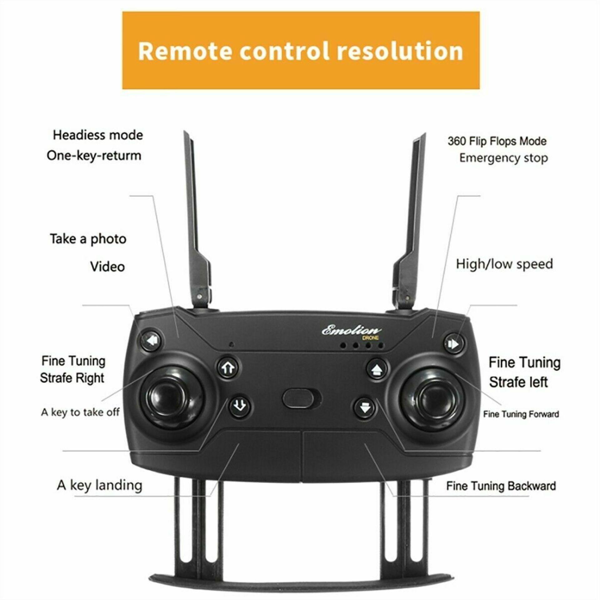 NEW & UNUSED DRONE X PRO WIFI FPV 1080P HD CAMERA FOLDABLE RC QUADCOPTER + BAG *PLUS VAT* - Image 5 of 12