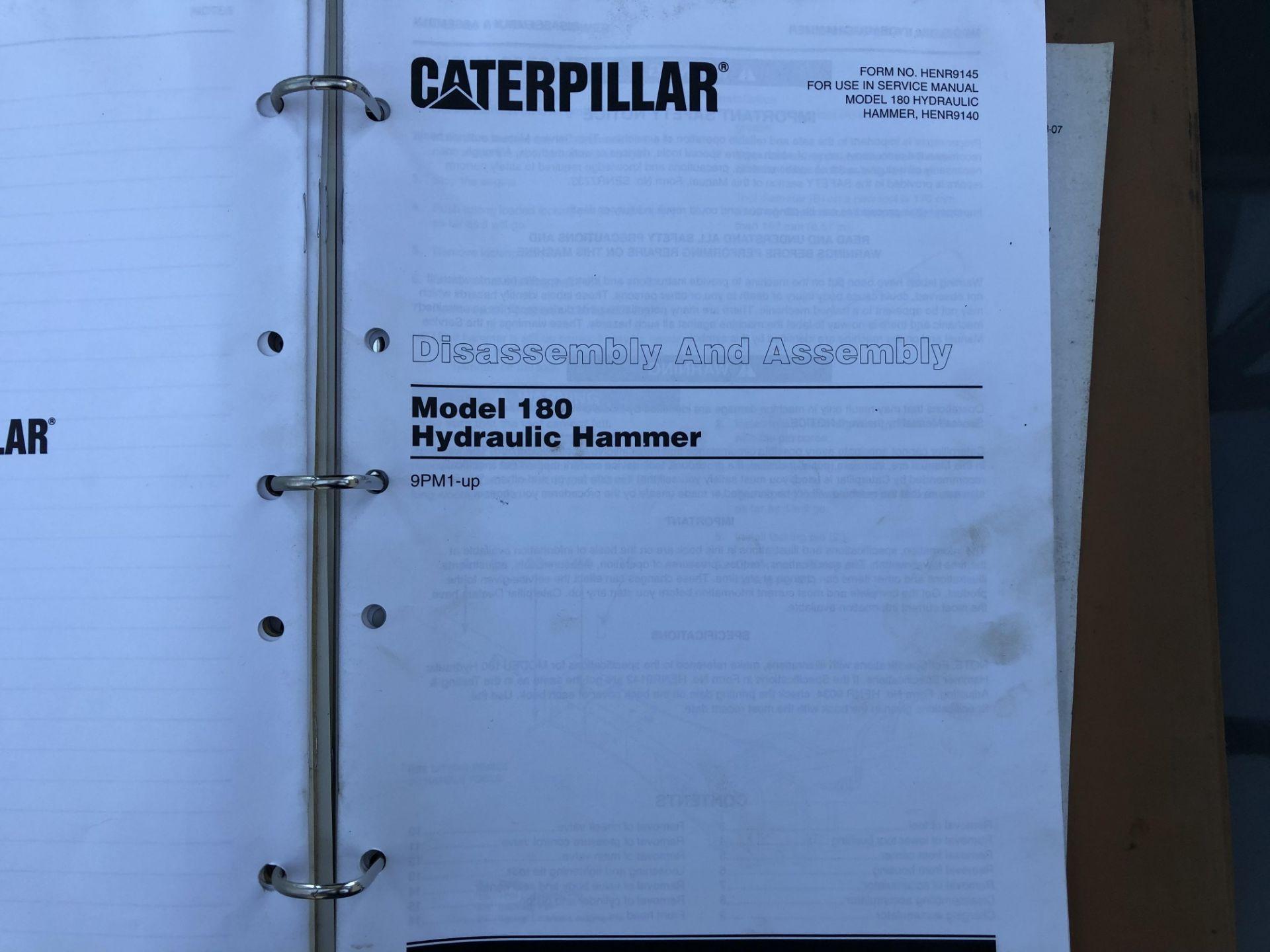 CATERPILLAR MODEL 180 HAMMER SERVICE MANUAL, GENUINE FACTORY CAT WORKSHOP MANUAL - Image 7 of 8