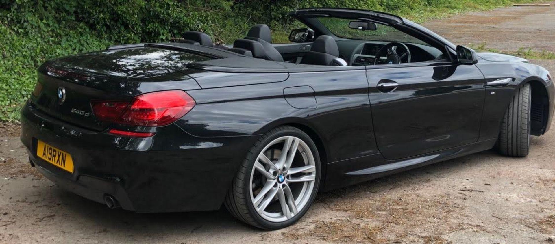 2014/14 REG BMW 640D M SPORT AUTOMATIC 3.0 DIESEL BLACK CONVERTIBLE *NO VAT* - Image 6 of 17