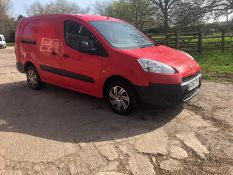 2014/14 REG PEUGEOT PARTNER 750 S L2 HDI 1.6 DIESEL PANEL VAN, SHOWING 0 FORMER KEEPERS *PLUS VAT*