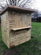 FLAT PACKED WOODEN SHED / HUT / BAR *NO VAT*