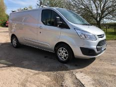 2014 FORD TRANSIT CUSTOM 290 LTD E-TECH SILVER PANEL VAN, 2.2 DISEL ENGINE *NO VAT*