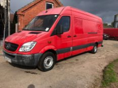 2009 MERCEDES SPRINTER 311 CDI LWB, RED PANEL VAN, SHOWING 0 PREVIOUS KEEPERS *PLUS VAT*