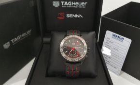 TAG HEUER SENNA Watch 43mm Chrono Formula 1 Limited Edition NO VAT