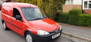 2010 VAUXHALL COMBO 1700 CDTI RED CAR DERIVED VAN, SHOWING 79K MILES, 1248CC DIESEL ENGINE *PLUS VAT