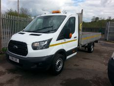 2018 FORD TRANSIT 350 WHITE 13.5FT ALLOY DROPSIDE LORRY, 39,710 MILES, 2.0 DIESEL ENGINE *PLUS VAT*