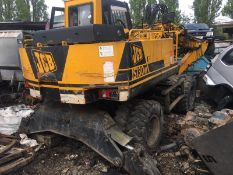 JCB JS130W TWIN WHEELED EXCAVATOR, STARTS, LEGS DON'T GO UP,DOESN'T MOVE FORWARD OR BACKWARDS NO VAT