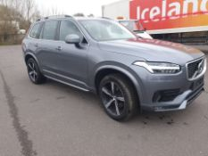 LOW MILEAGE, 2018/18 REG VOLVO XC90 MOMENTUM D5 P-PULSE 2.0 DIESEL 7 SEAT, SHOWING 0 FORMER KEEPERS