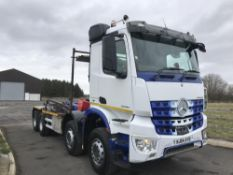 2014/64 REG MERCEDES-BENZ ACTROS 3240 HOOK LOADER 8X4 HARSH HOOK EQUIPMENT, AUTO GEARBOX *PLUS VAT*