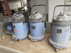 4 x numatic wet and dry commercial hoovers. Direct from major hire company. *NO VAT*