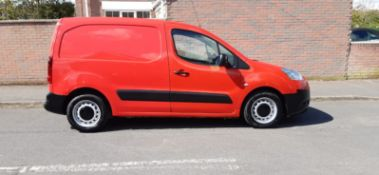 2012 PEUGEOT PARTNER 625 S L1 HDI RED PANEL VAN, 1.6 DIESEL ENGINE, 91,180 MILES *PLUS VAT*