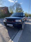 2006 (56) RANGE ROVER SPORT 2.7 V6, BLACK ESTATE, 2720CC DIESEL ENGINE, SHOWING 154K MILES *NO VAT*