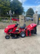 COUNTAX RIDE ON LAWN MOWER, RUNS DRIVES AND CUTS, NEW BATTERY, 38 HOURS *NO VAT*