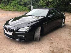 2014/14 REG BMW 640D M SPORT AUTOMATIC 3.0 DIESEL BLACK CONVERTIBLE REMAPPED 380BHP *NO VAT*