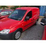 2010 VAUXHALL COMBO 1700 CDTI RED VAN, SHOWING 56,424 MILES, 1248CC DIESEL ENGINE *NO VAT*