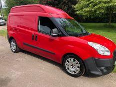 2013 FIAT DOBLO 16V XL MULTIJET LWB RED PANEL VAN, SHOWING 35K MILES, 1.6 DIESEL ENGINE *NO VAT*