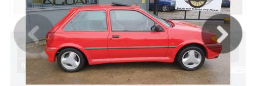 1992 FORD FIESTA XR2 I RED 3 DOOR HATCHBACK, 1.8 PETROL ENGINE, MANUAL 5 GEARS *PLUS VAT*