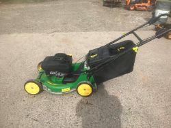 JOHN DEERE SELF PROPELLED LAWN MOWERS, HUSQVARNA CHAINSAW, HONDA FLOOR GRINDER, STEPHILL GENERATOR, TRENCH RAMMER ALL ENDS FROM 7PM TUESDAY!