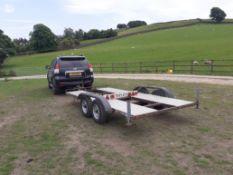 BRADLEY 3000kg CAR TRANSPORTER TRAILER, 420cm x 183cm, SOLID BOX SECTION CHASSIS *PLUS VAT*