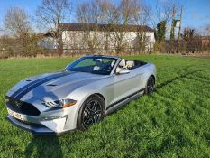 2018 FORD MUSTANG 2dr SILVER CONVERTIBLE AUTO, 36,655 MILES, LEFT HAND DRIVE, 2.3 ECO BOOST, PETROL