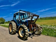 FORD 7710 FORESTRY TRACTOR WITH WINCH, RUNS AND WORKS, ALL GEARS WORK, GOOD TYRES *PLUS VAT*