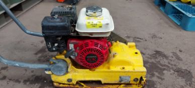WACKER PLATE VIBRATING COMPACTION PLATE, HONDA GX120 ENGINE *PLUS VAT*