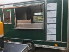 CATERING KIOSK TRAILER / SNACK BAR, IN GREAT CONDITION *NO VAT*