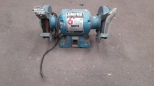 """CLARKE METAL WORKER 6"""" (150mm) BENCH GRINDER, MODEL CBG 6RSC, NO PLUG OR SWITCH *PLUS VAT*"""