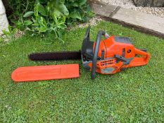 """2020 HUSQVARNA 550XP MARK II CHAINSAW, OWNER FROM NEW, RUNS AND WORKS, 16"""" BAR AND CHAIN *NO VAT*"""