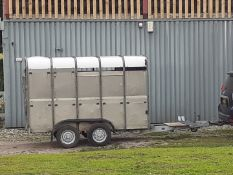IFOR WILLIAMS 10ft LIVESTOCK CATTLE TRAILER, COMPETE WITH CART RACK CARRIER *NO VAT*