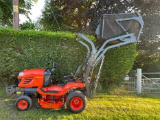 2015 KUBOTA G23-II HIGH TIP RIDE ON MOWER, RUNS DRIVES CUTS COLLECTS WELL, A LOW 533 HOURS*PLUS VAT