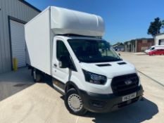 2020/20 REG FORD TRANSIT 350 LEADER ECOBLUE 2.0 DIESEL WHITE LUTON VAN WITH TAIL LIFT, 32,000 MILES