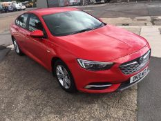 2018/18 REG VAUXHALL INSIGNIA DESIGN ECOTEC TURBO 1.6 DIESEL RED, SHOWING 0 FORMER KEEPERS *NO VAT*