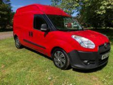 2013 FIAT DOBLO 16V XL MULTIJET LWB RED PANEL VAN, 1.6 DIESEL ENGINE, SHOWING 86K MILES *PLUS VAT*