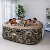 CLEVERSPA SORRENTO 6 PERSON INFLATABLE HOT TUB SPA WITH LED LIGHTS, IN USED CONDITION *NO VAT*