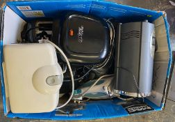 JOB LOT OF KETTLES, TOASTERS, HAIR DRYER, IRONS, WINE COOLER, GEORGE FOREMAN GRILL ECT *NO VAT*