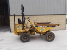 THWAITES 2 TONNE DUMPER, STARTS DRIVES TIPS, CHASSIS PLATE SHOWS 1998, WAS ROAD REGISTERED IN 2001