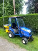 ISEKI TXG 237 COMPACT TRACTOR WITH SPREADER, 4 WHEEL DRIVE, 414 RECORDED HOURS *PLUS VAT*