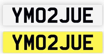 YM02 JUE NUMBER PLATE, CURRENTLY ON RETENTION *NO VAT*
