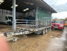 BRENDERUP TWIN AXLE TILT BED TRAILER, COMES WITH TOOL BOX, GOOD TYRES, SPARE WHEEL *NO VAT*