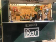 MOBILE BAR IN FULL WORKING ORDER, WILL SERVE 100+ GUESTS, FIRDGES, PUMPS, MINT CONDITION *NO VAT*